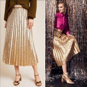 Anthropologie Natalia sequined skirt